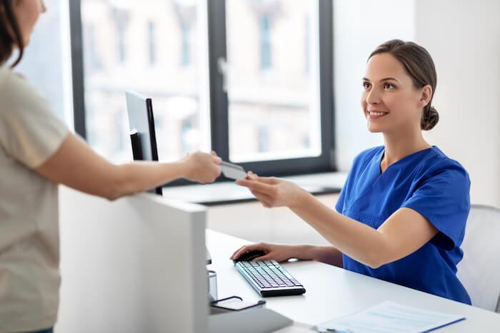 Medical desk check-in