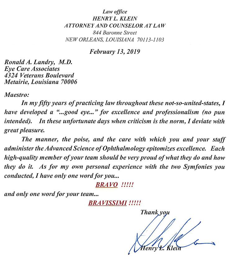 Testimonial letter image