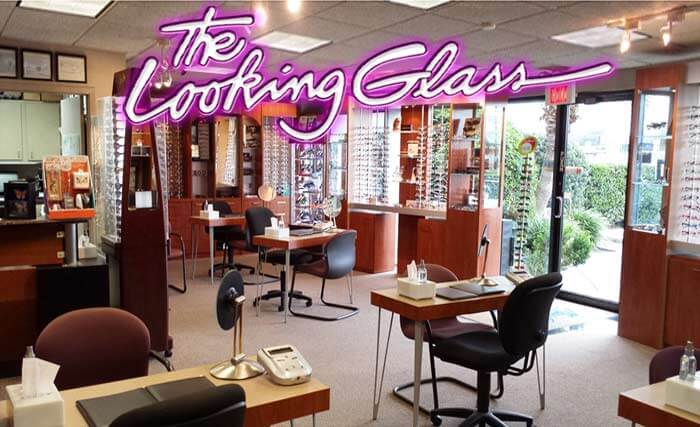 Optical shop with Looking Glass title